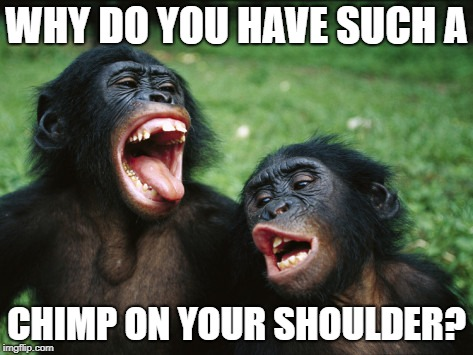 Why Do you have such a chimp on your shoulder?